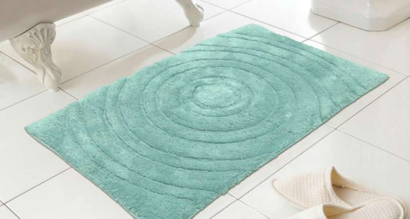 Bath Mat Large Aqua Turquoise Thick Really Soft Bathroom