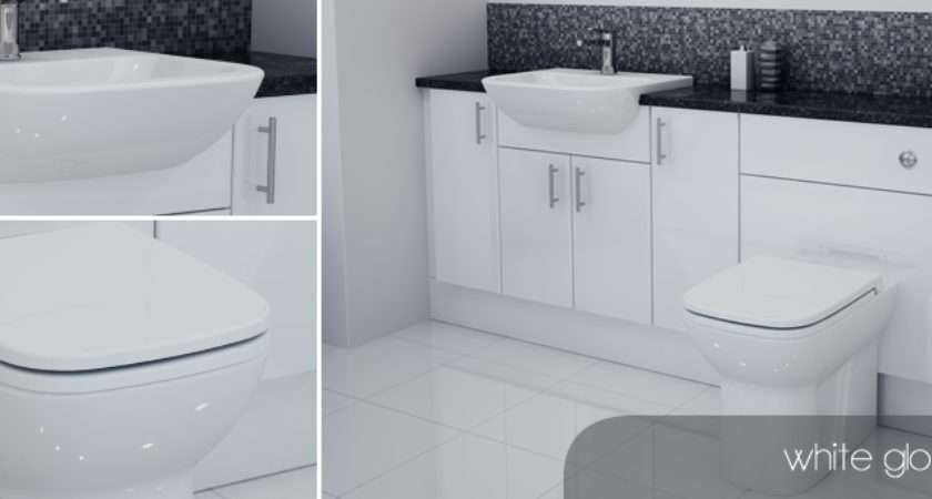 Bathcabz Bathroom Fitted Furniture White Gloss
