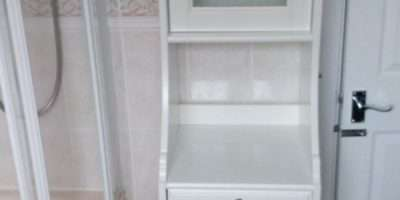 Bathroom Cabinet Ikea Flaren Glass Door Yeovil