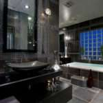 Bathroom Extraordinary Modern Black Master Design Ideas