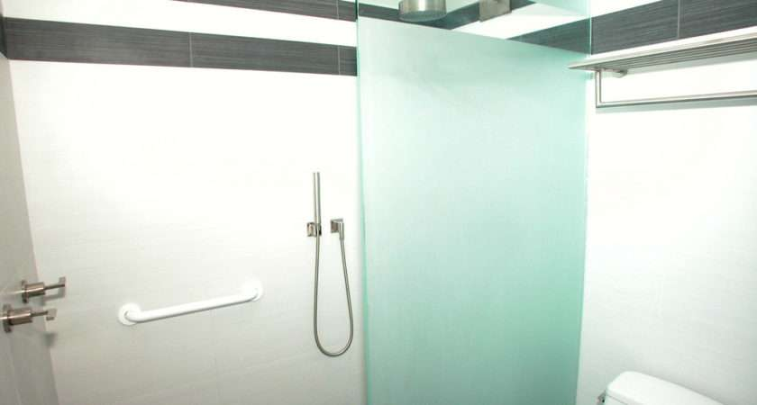 Bathroom Glass Shower Froasted Panel Interior Decorating