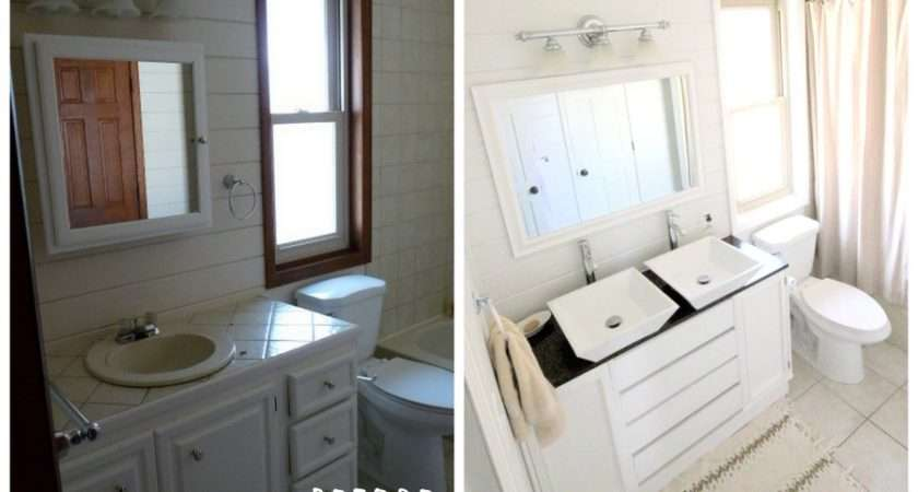 Bathroom Makeover Less Than Before After