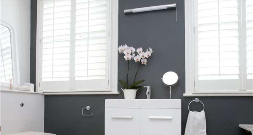 Bathroom Wall Painted Down Pipe Modern Emulsion