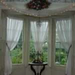 Bay Window Decorations Classic Textile Curtain