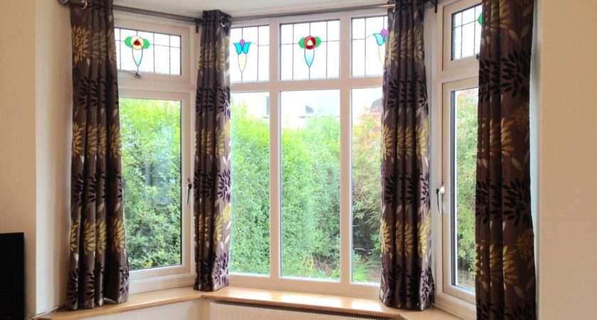 Bay Windows Stained Glass Bespoke Curtains Blinds
