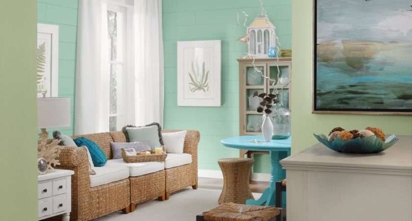 Beach Themed Living Room Colorful Furniture Set