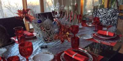 Beautiful Christmas Table Dining Dishes Pinterest