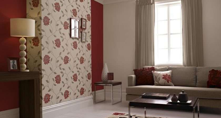 Beautiful Floral Perfect Feature Wall Design Adding