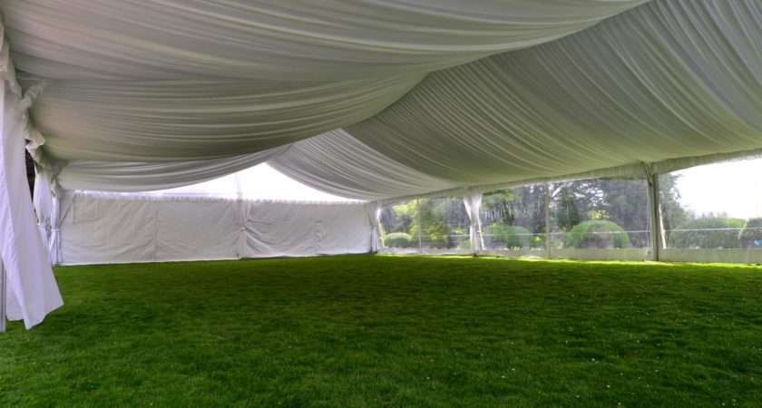 Beautiful New Tent Liner Black White Party Rentals