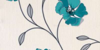 Beautiful Pattern Features Elegant Trailing Leaf Finished Off