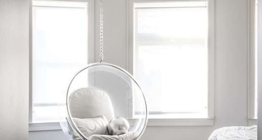 Bedroom Acrylic Bubble Hanging Chair Contemporary