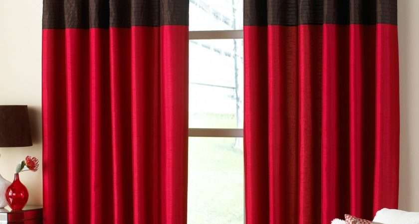 Bedroom Bright Red Curtains Hair Dye Ideas
