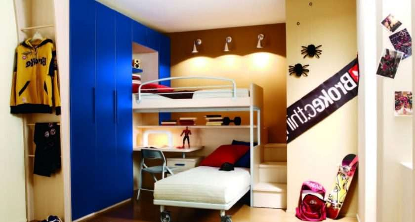 Bedroom Bunk Bed Wall Paint Flokati Area