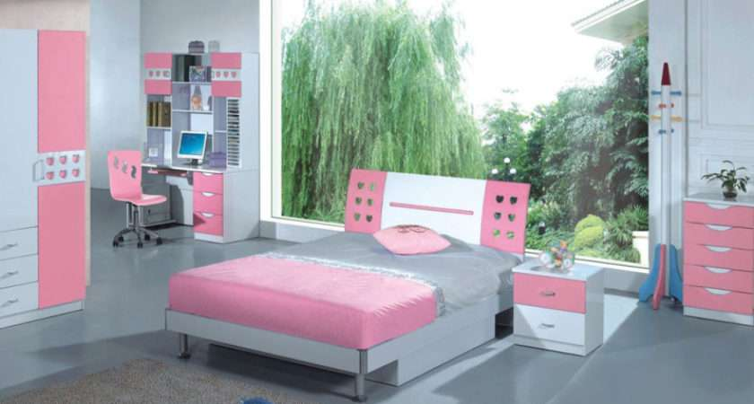 Bedroom Cool Pink Blue Girls Decorating Ideas