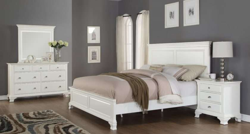 Bedroom Dark Grey Color White Funiture Master