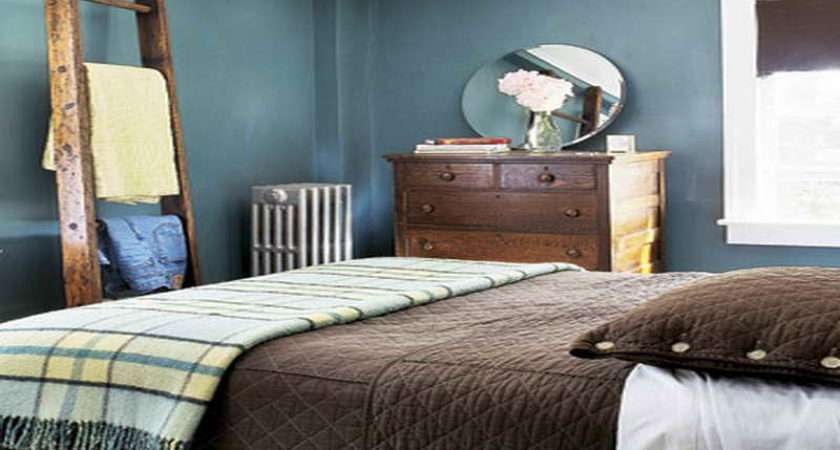 Bedroom Decorating Ideas Brown Furniture Blue
