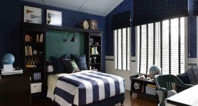 Bedroom Decorating Ideas Using Dark Blue Wall Color Antiquesl
