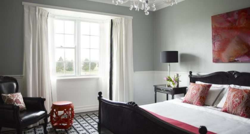 Bedroom Designs Trendy Grey Walls Ideas Pink Accents Leather