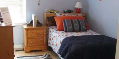 Bedroom Extraordinary Blue Orange
