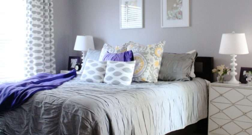 Bedroom Foxy White Grey Design Decorating