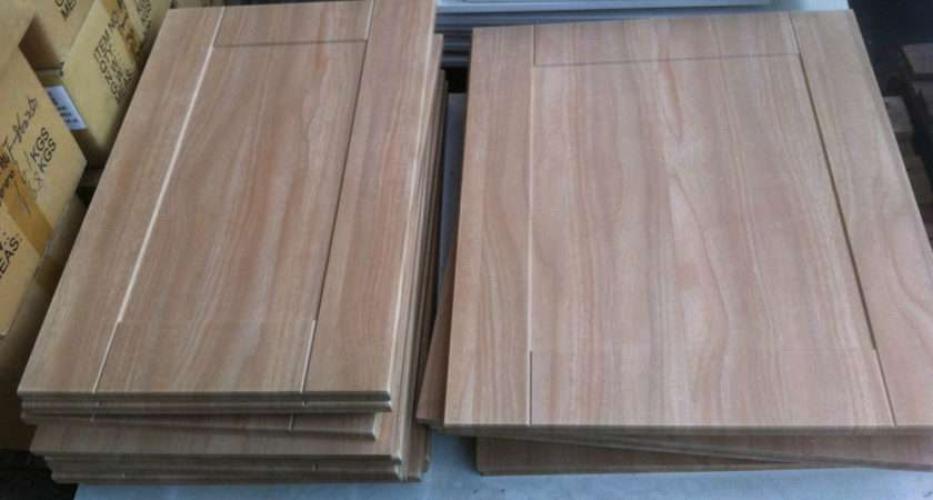 Bedroom Kitchen Unit Cupboard Replacement Doors Light Walnut Shaker