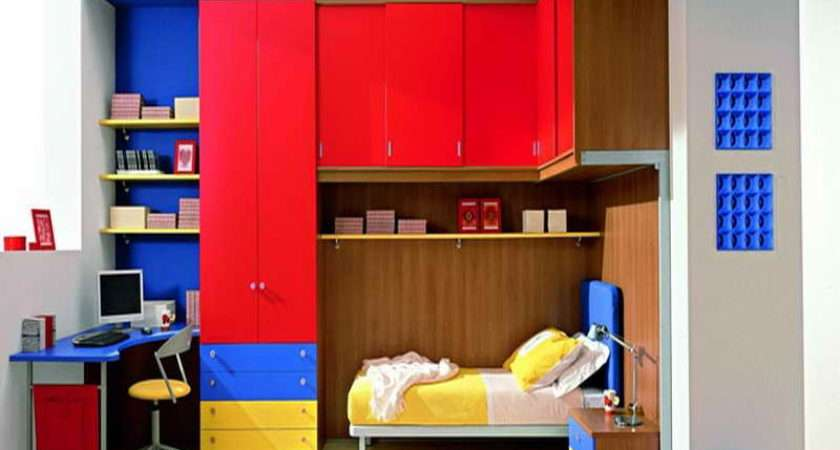 Bedroom Red Blue Ideas Cool Boys