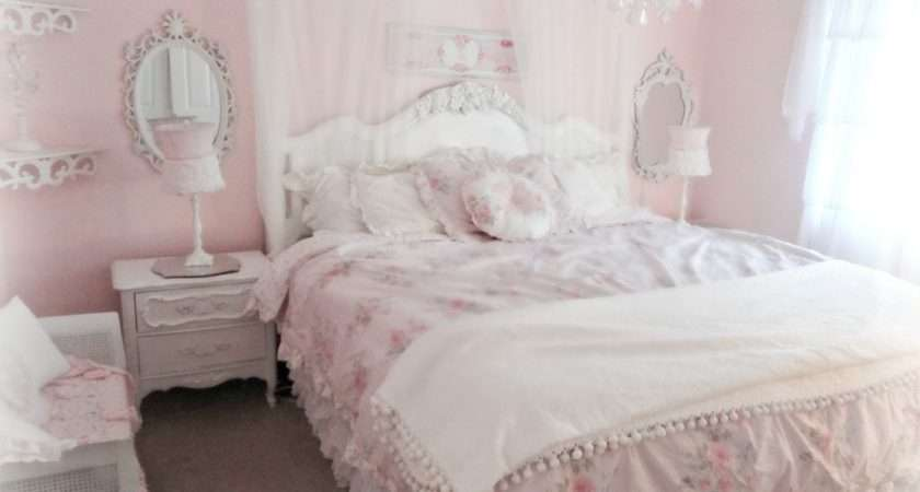 Bedroom Shabby Chic Girls Bed Vintage Wardrobe