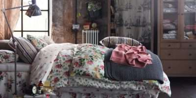 Bedroom Shabby Chic Idea Floral Bed Cover Ikea
