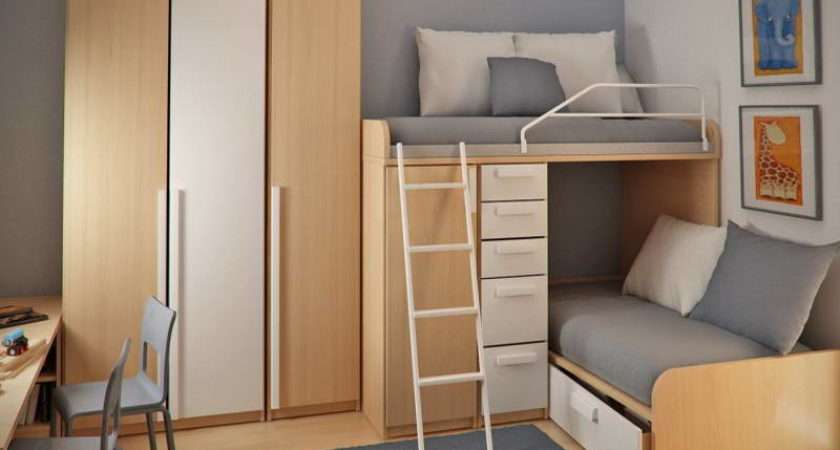 Beds Small Spaces Loft Bed Plans Space Saving