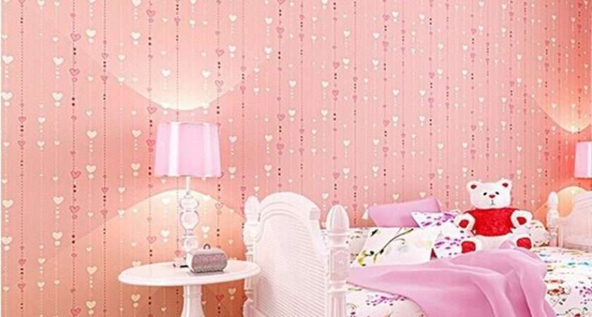 Beibehang Non Woven Pink Love Printed Roll