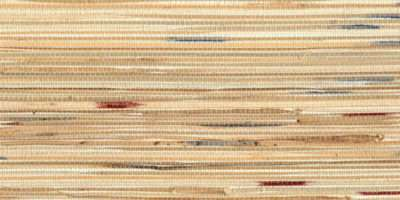 Beige Bamboo Grasscloth Teal Maroon Accents