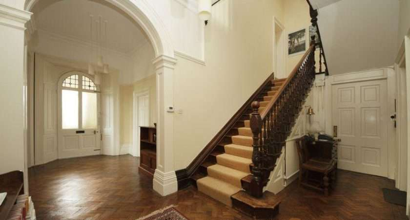 Beige Brown Entrance Hall Hallway Staircase Stairs