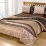 Beige Gold Black Duvet Cover Luxury Damask Bedding