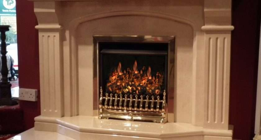 Bellageo Tiree Natural Marble Fireplace