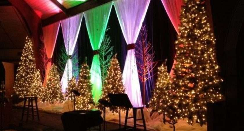 Best Christmas Stage Design Ideas Pinterest