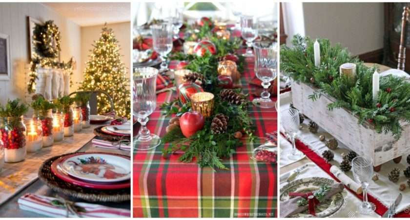 Best Christmas Table Settings Decorations