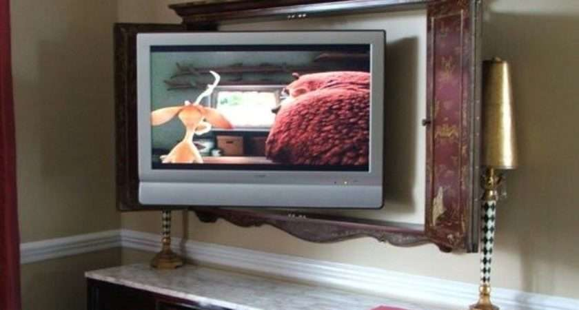 Best Flat Screen Wall Cabinet Pinterest