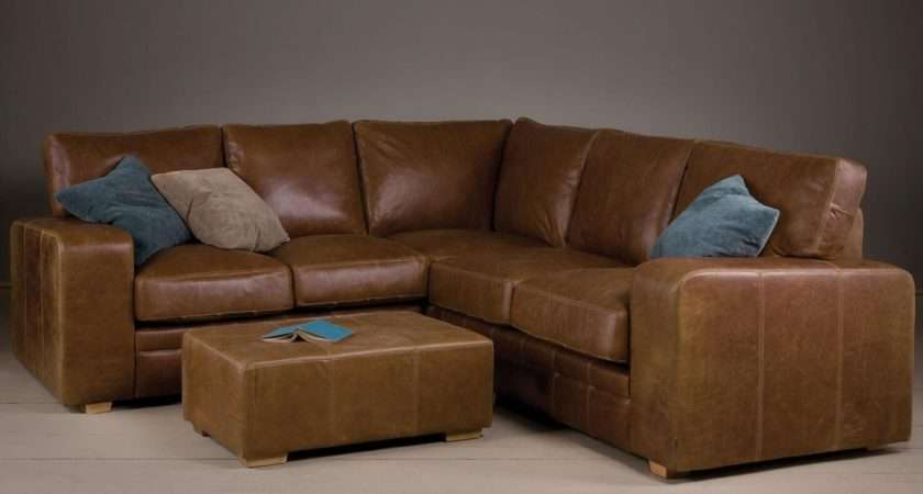 Best Ideas Small Brown Leather Corner Sofas Sofa