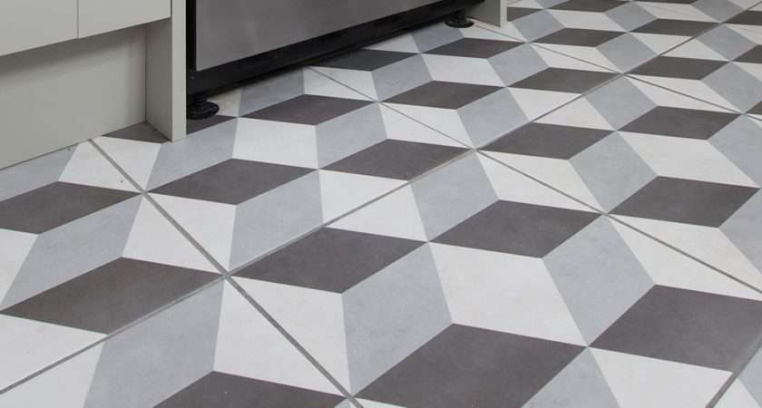 Best White Floor Tiles Grey Grout Kezcreative