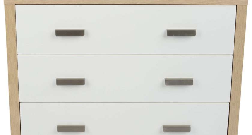 Bianco Oak Effect White Wood Drawer Chest Drawers
