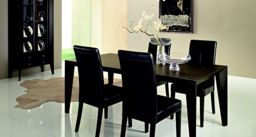 Black Dining Room Table Sets Tables Round