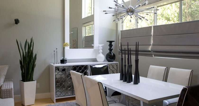 Black Dining Room White Silver Decor Ideas