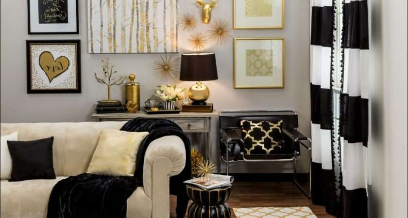 Black Gold Living Room Decor Coma Frique Studio