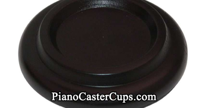 Black Grand Piano Caster Cup Rubber Pad