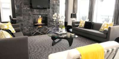 Black Gray Living Room Contemporary Atmosphere