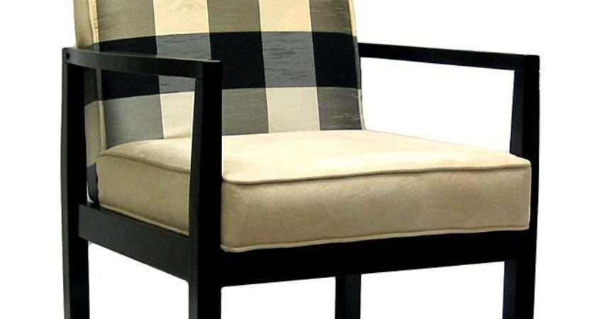Black Ivory Polka Plaid Accent Chair Shipping