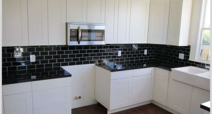 Black Kitchen Wall Tiles Home Decorating