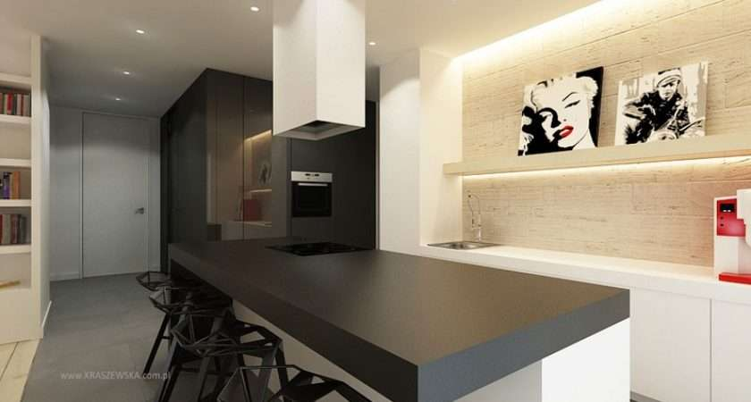 Black Kitchen Worktop Interior Design Ideas