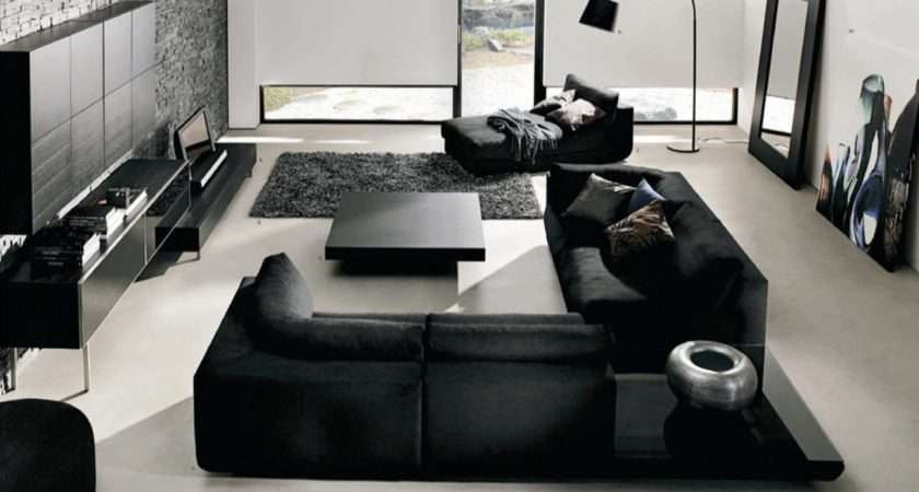 Black Living Room Furniture Ideas Interior