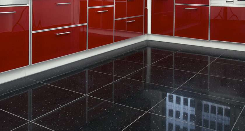 Black Quartz Sparkling Mirror Fleck Wall Floor Kitchen Bathroom Tiles